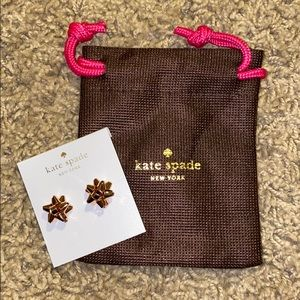 Kate Spade Bourgeois Bow Stud Earrings Rose Gold